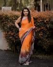 Akshaya-Premnath-orange-saree-4