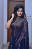 Alekhya Naidu in blue saree stills (17)