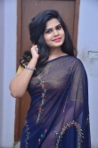 Alekhya Naidu in blue saree stills (18)