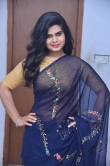 Alekhya Naidu in blue saree stills (2)