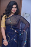 Alekhya Naidu in blue saree stills (6)
