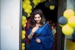 Athulya Ravi in blue saree stills (3)