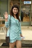 Mannara Chopra in blue dress photo july 2019 (1)