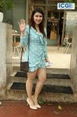 Mannara Chopra in blue dress photo july 2019 (2)