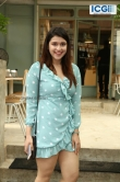 Mannara Chopra in blue dress photo july 2019 (3)