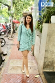 Mannara Chopra in blue dress photo july 2019 (8)