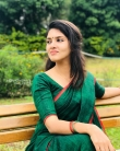 Gayathri suresh in green saree still (1)