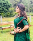 Gayathri suresh in green saree still (2)