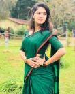 Gayathri suresh in green saree still (3)