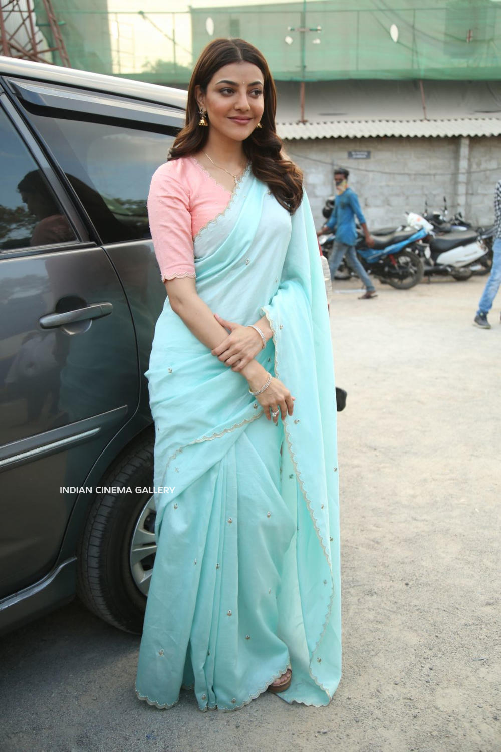 Kajal Aggarwal in saree dress (1)