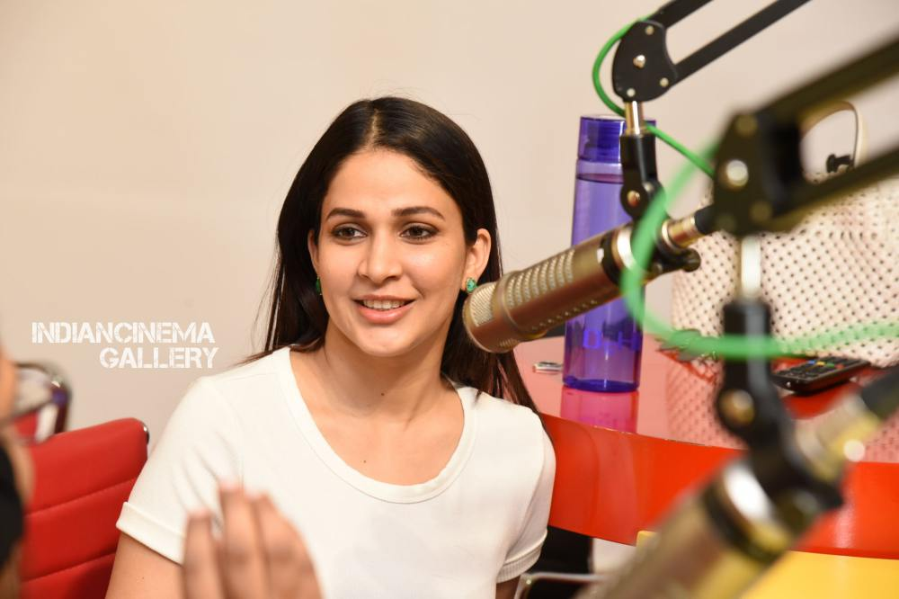 Lavanya Tripathi at Arjun Suravaram Song Launch at Radio Mirchi (10)