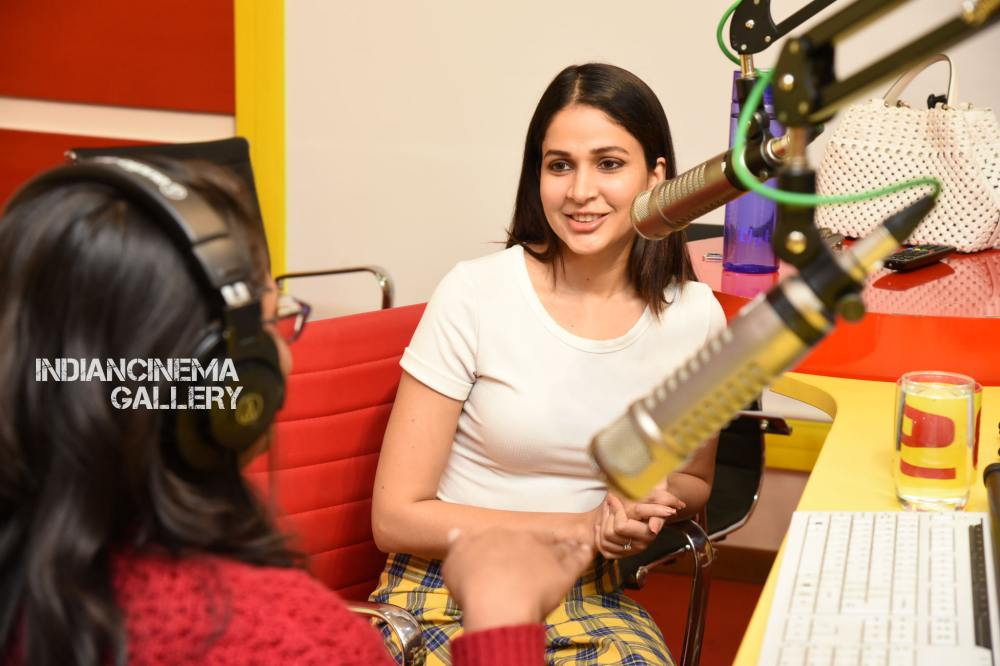Lavanya Tripathi at Arjun Suravaram Song Launch at Radio Mirchi (12)