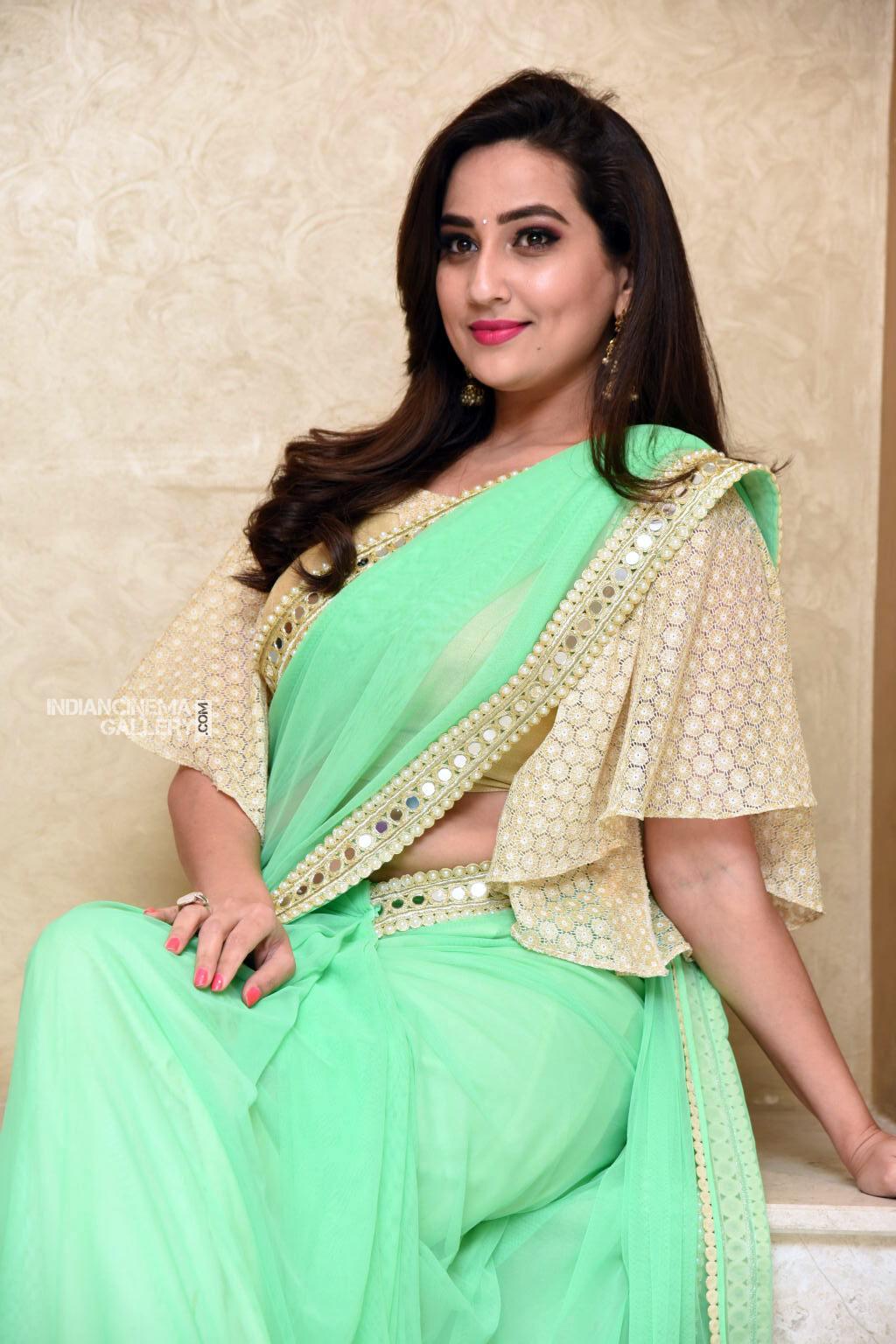 Manjusha at Suvarna Sundhari Movie Trailer Launch (13)