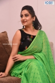 Manjusha in green saree oct 2019 stills (24)