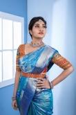 Neelima Rani in blue saree (4)