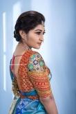 Neelima Rani in blue saree (5)