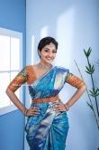 Neelima Rani in blue saree (6)