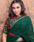 Parvathy-Nair-in-green-saree-4