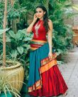 Parvathy-Nair-in-red-and-blue-dress-2