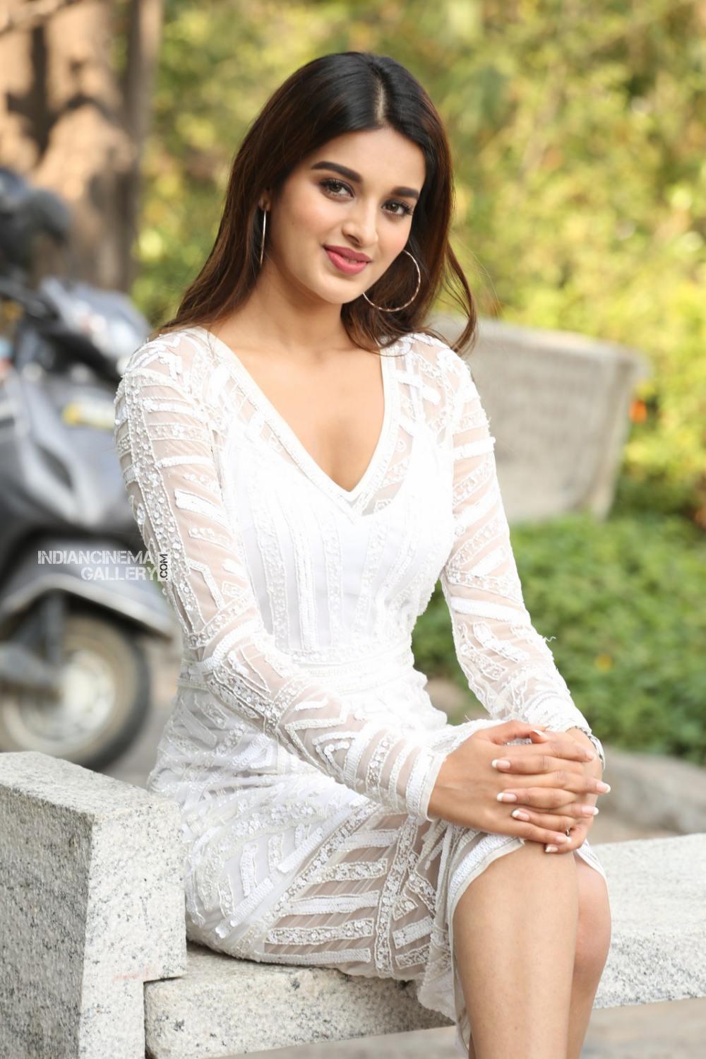 Niddhi agarwal in white dress stills (22)