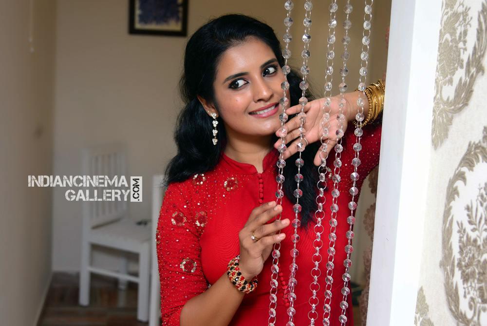 Roshna Ann in red dress stills (33)