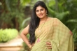 Anchor Sonia Chowdary in green saree stills (24)