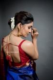 Vani Bhojan in blue saree (3)