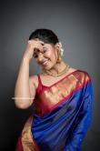 Vani Bhojan in blue saree (4)